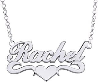 Personalized Names Custom Name Necklace Pendant in 18K Gold Plated Custom Made with Any Name Chain