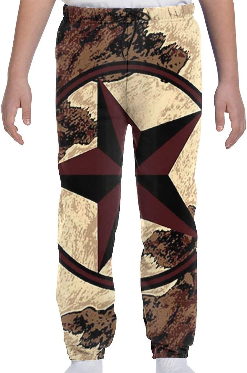 Youth Kids Limited time cheap sale Graphic Jogger Pants Super special price Cowb Country Rustic Star Western