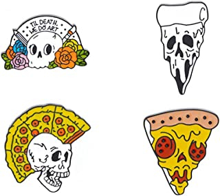 halloween pizza skulls
