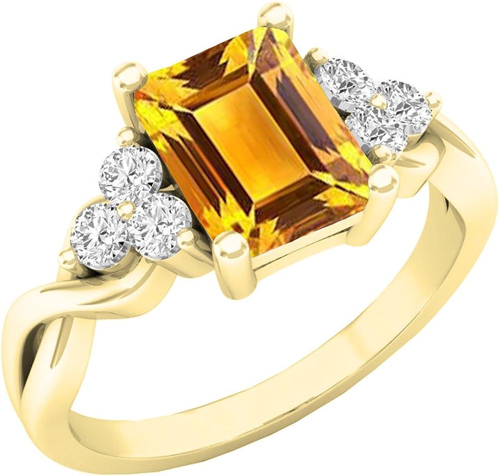 Dazzlingrock Collection 10K 8X6 MM Portland Mall Round Gemstone Emerald Cut Be super welcome