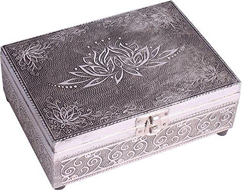 Preisvergleich Produktbild Find Something Different Etwas Finden,  verschiedenen Holz geprägt Silber Finish Lotus Flower Tarot Aufbewahrungsbox,  Mehrfarbig