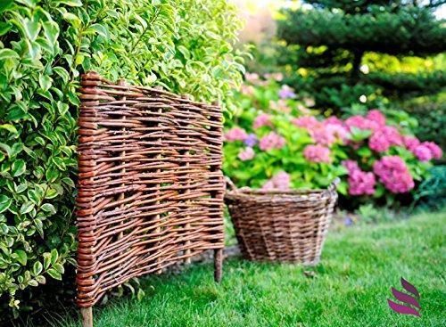 Floranica® Bordura Natural para jardín, Valla Madera en 25 tamaños ...