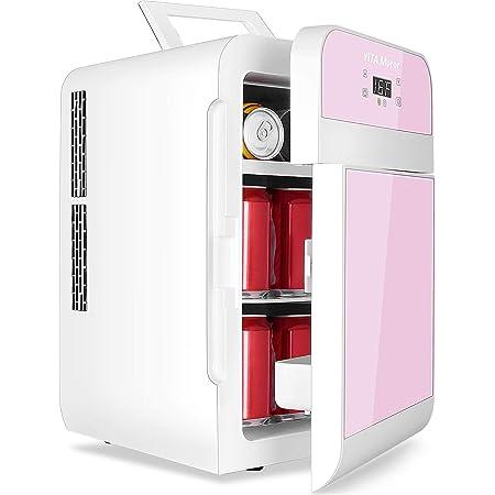 YITAMOTOR Pink Portable Refrigerator20 Liter Mini Fridge Electric Powered 12V DC and 120V AC for Car, SUV, RV, Home,Outdoor (Car Refrigerator)