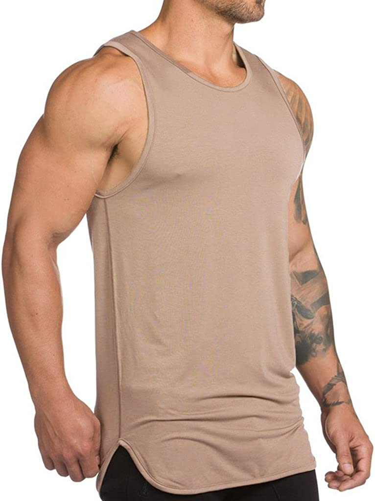 Financial sales sale Magiftbox Mens Extended Scoop 40% OFF Cheap Sale Workout Stringer Tank Gym Shi Tops