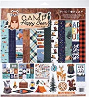 """PhotoPlay Collection Pack 12""""X12""""-Happy Camper Bear"""