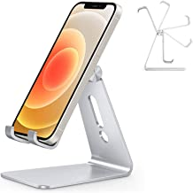 Adjustable Cell Phone Stand, OMOTON C2 Aluminum Desktop Phone Dock Holder Compatible with iPhone...