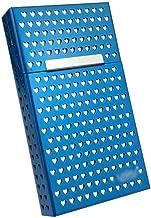 MJJD Silver Stainless Steel Extra Slim Cigarette Case/Box (Color : Blue)