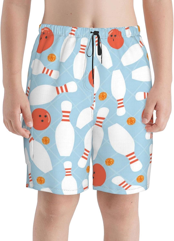 Bowling Ball Orange Dot Glitter Complete Free Shipping Boys Beach Swim Trunks Some reservation B Teens