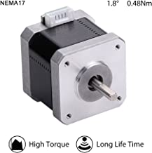 MOONS' NEMA17 Stepper Motor 3D Printer 1A 0.48Nm(68oz-in) 2Phase 1.8 Degree Step Motor 39.8mm(1.57in.) Smooth and Quiet Stepping Motor for CR10 CR10S Prusa Extruder(Model MS17HD2P4100)