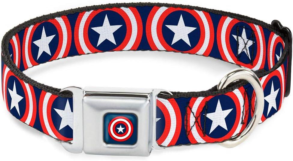 35% OFF Buckle-Down Sale SALE% OFF Dog Collar Seatbelt Buckle America Re Captain Shield