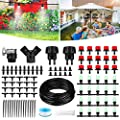 Drip Irrigation System, NASUM 82Ft/25M Drip Irrigation Kit with Adjustable Misting Nozzles& Drippers Automatic DIY Garden Irrigation System for Flower Bed, Patio, Greenhouse Gifts for Mother's Day