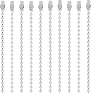 30 Inch White Coated Number 3 Ball Chain Necklaces 10 Count