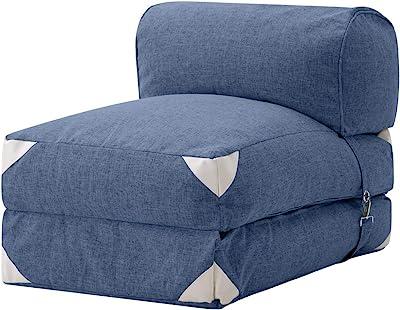 オーエスジェイ(OSJ) 折り畳み式 ソファーベッド 3WAY シングル sofa ネービー 約幅57cm 収納 コンパクト おしゃれ 大 PP195135CAA