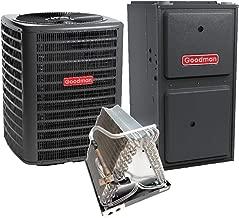 Goodman 2.5 Ton 14 SEER Air Conditioner GSX140301, Coil CAUF3137B6, 80,000 BTU 92% AFUE Upflow Gas Furnace GMSS920803BN
