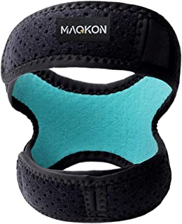 MAQKON 膝バンド 膝サポーター 運動 ランニング フリーサイズ 男女兼用 左右兼用 1個入り