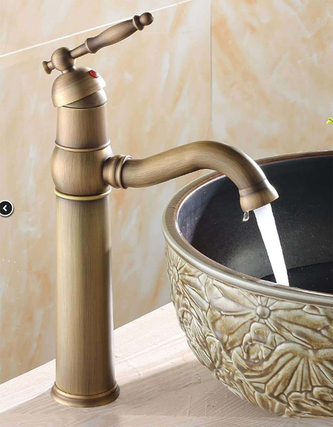 Hlluya Professional Sink Mixer Tap Kitchen Faucet Copper basin faucet hot and cold, the redation of the basin Faucet
