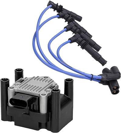 ECD Germany Bobina de encendido + Cable de encendido Juego de cables de encendido para coches
