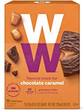 WW Chocolate Caramel Mini Bar - Snack Bar, 2 SmartPoints - 1 Box (12 Count Total) - Weight Watchers Reimagined