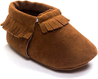 Kuner Baby Boys Girls Tassel Soft Soled Non-Slip Crib Shoes Moccasins First Walkers