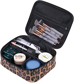 Makeup OrganizerMakeup Bag Cosmetic Bag Organizer for Women- Portable Multifunction Toiletry Bags with Adjustable Dividers