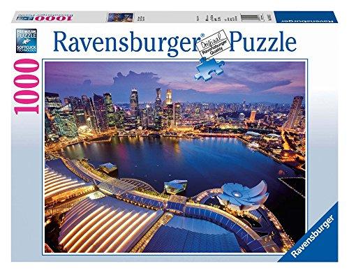 Ravensburger Puzzle, Puzzle 1000 Pezzi, Singapore Skyline, Puzzle Città, Puzzle Adulti, Puzzle Ravensburger - Stampa di Alta Qualità