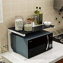 HLJ Tallero de horno de microondas, parrilla de cocina en horno, marco de acero de metal de carbono de vidrio templado, A-60 cm (Color : D, Size : 60cm)