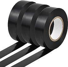 Jinlaili 3 rollen elektrische isolatieband, 20m x 19mm zwarte isolatietape, Sterke zelfklevende Gaffer Tape, Waterdichte a...