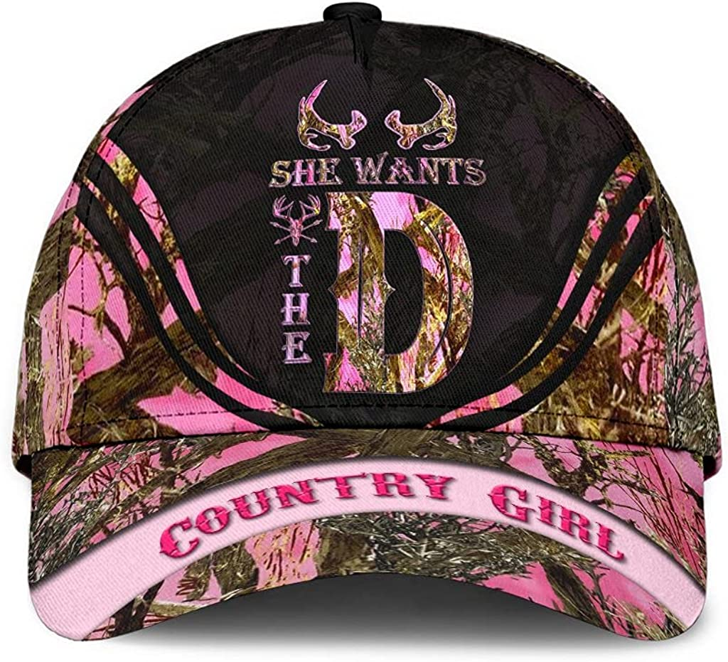 Customized Name Popular product 3D Printed Cap Hat Wants She The Hunting Limited price sale Class D