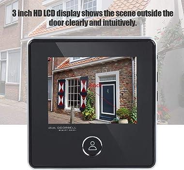 Door Viewer Peephole, Video Doorbell Digital Door Peephole Viewer Smart Vision Door Camera Monitor with 3MP, 120° Wide Angle,