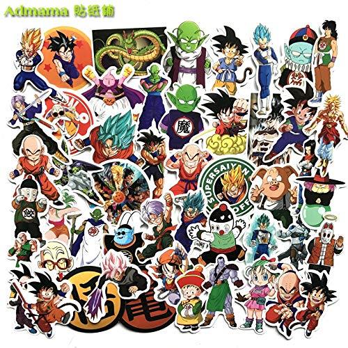 HHSM Pegatinas de anime japonesas para equipaje, equipaje, equipaje, equipaje, equipaje, monopatín, mosca muerta, impermeable, 50 unidades