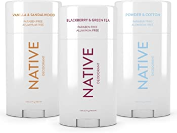 3-Pack Native Natural Deodorant made without Aluminum & Parabens