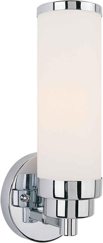 Filament Design CLI-FRT5064-01-05 Mattia 1-Light Sconce with Satin Opal Glass, Chrome
