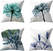 UBXRIN Throw Pillow Covers Set of 4 Decorative Cushion Throw Pillow Case for Living Bedroom Sofa Couch,18 x 18 Inch