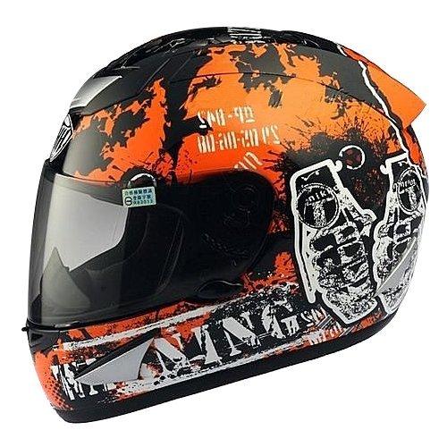 THH - Full Face Helmet - TS-41 ORANGE DESTROY (Matt)