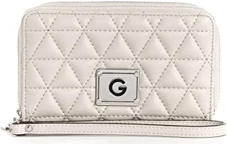 G by Guess Zip Around Wallet for Women - Beige,16.5 x 10.5 cm