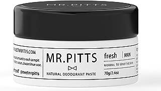 Mr Pitts Natural Organic Deodorant Paste for Men