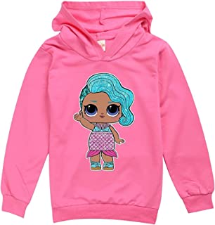 YYCHER Girls Kids Spring Autumn Hoodie Shirt Children Baby Cartoon Print Hoody Tops Sweatshirt (Color : Gold, Kid Size : 1...