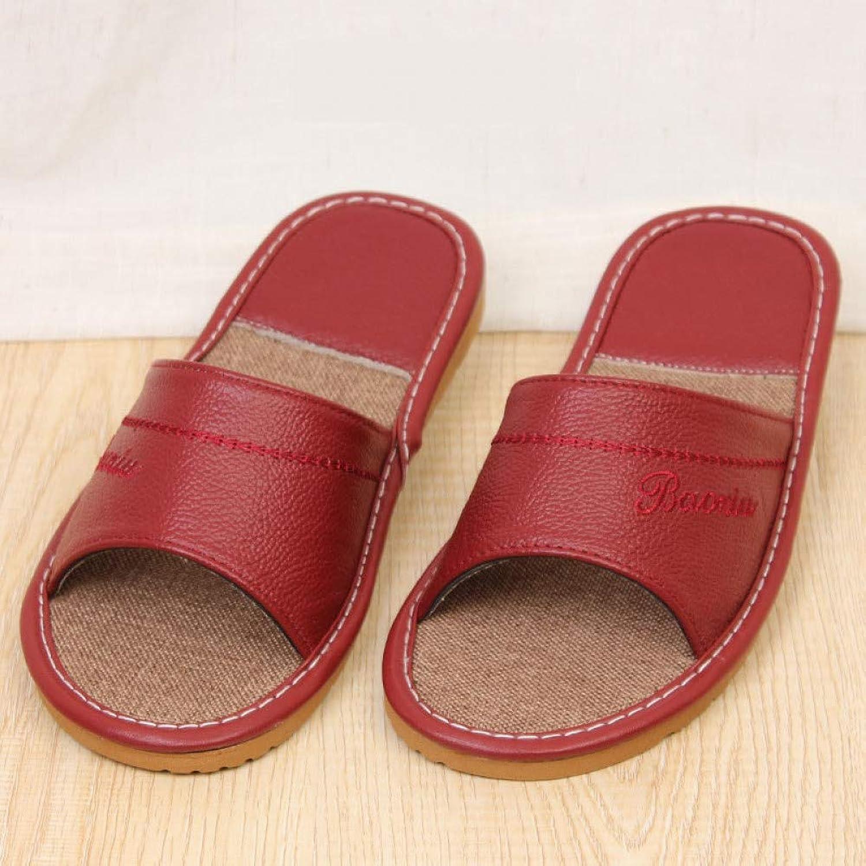 QRETYSG flip flop Summer Men Linen Slippers Flax Flip Flops Men Split Leather Indoor Non-slip Breathable Sweat-absorbent Flats shoes Slides