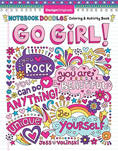 Notebook Doodles Go Girl!: Color...