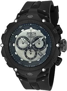 Invicta Distressed Metal Finish Reserve 52mm Venom Gen II Swiss Made Quartz Chronograph Silicone Strap Watch 18454