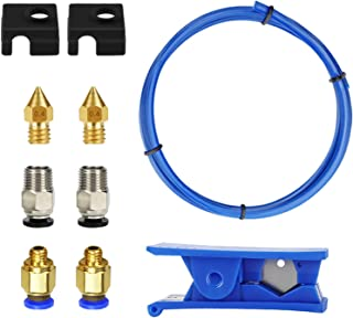 Homyl Upgrade 3D Printer Accessories Kit Capricorn XS Bowden Tubing 1M for Ender 3,Easy to Install