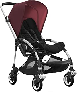 Bugaboo Bee5 Complete Stroller with Aluminum Frame with Black Seat Fabric and Red Melange Sun Canopy