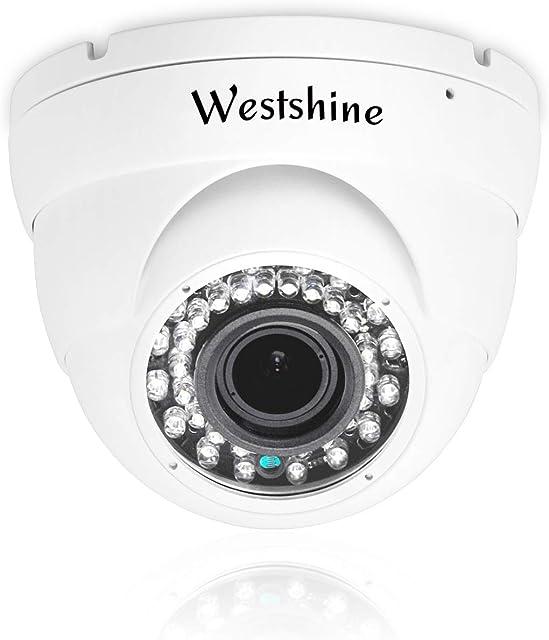 Westshine Cámara de Seguridad 4K Cámara Domo Super HD AHD/TVI/CVI/CVBS de 8 MP IP66 3.6mm 20M Visión Nocturna en/Cámara de vigilancia para Exteriores