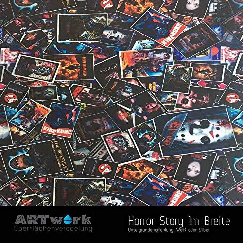 ARTwork Wassertransferdruck Folie Horror Story 1m Breite