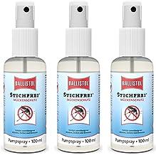 BALLISTOL Stichfrei, 3 Stück a 100 ml Pump-Spray Mückenspray Insektenspray