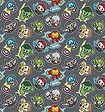 DC Heroes Kawaii grau - Baumwolle - ab 0,5 Meter