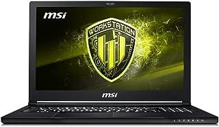 "MSI WS63 8SJ-018 15.6"" Mobile Workstation Laptop 94% NTSC Display Quadro P2000 4G i7-8750H 32GB 512GB SSD, Aluminum Black"
