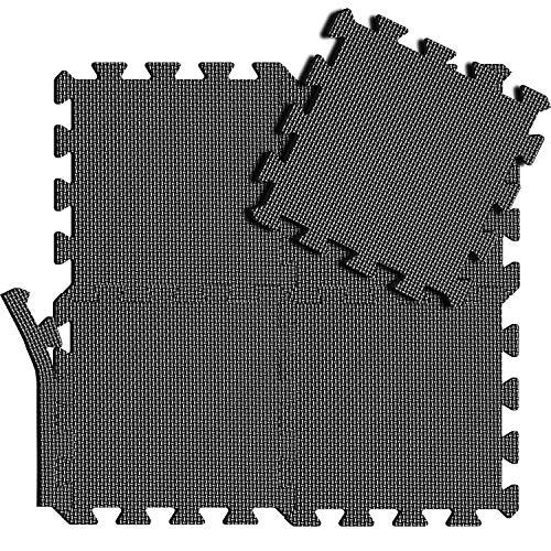 arteesol Alfombrillas de espuma para suelo de gimnasio, 18 piezas, entrelazadas con rompecabezas, EVA, alfombrillas protectoras para suelos antideslizantes