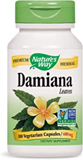 Nature's Way Damiana Leaves, 800 mg per serving, 100 Capsules