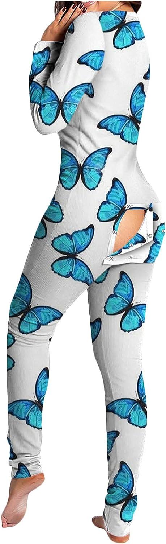5665 Women Gothic Jumpsuit Sleepwears, Deep V Neck Funny Butt Open Flip Skull Graphic Halloween Romper Pajamas Nightwear